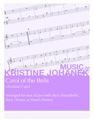 Carol of the Bells (Ukranian Carol) (2 octave handbells, tone chimes or hand chimes) sheet music