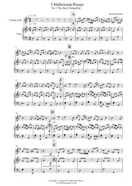 3 Halloween Pieces for Clarinet And Piano sheet music