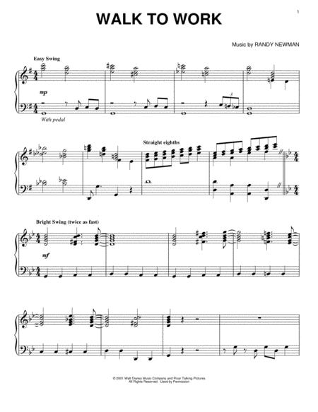 monsters inc theme sheet music