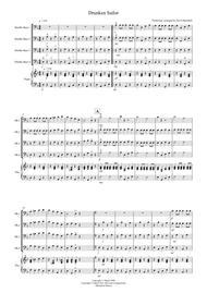 Drunken Sailor for Double Bass Quartet sheet music