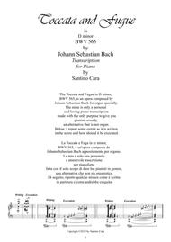 J.S.Bach-Toccata e fuga in D minor BWV565 - Piano solo