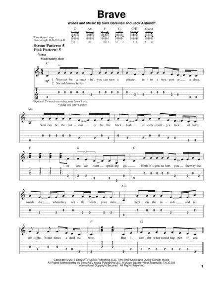 Download Digital Sheet Music of sara bareilles for