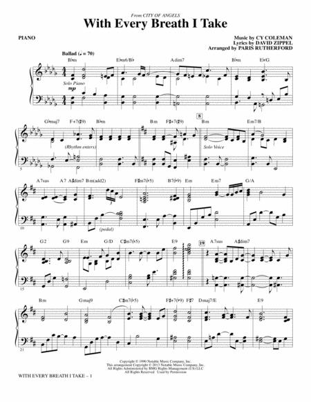With every breath I take sheet music to download and print - World ...