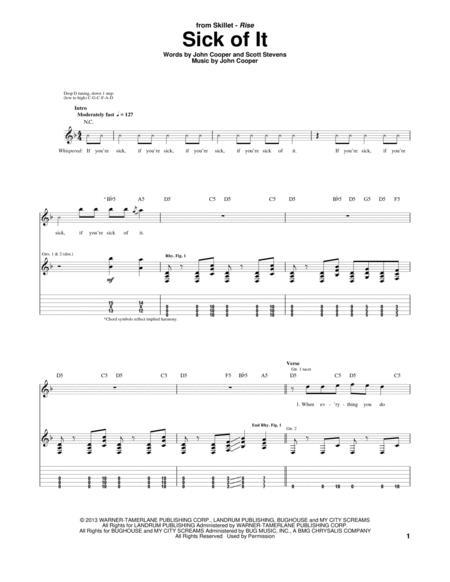 Buy Skillet Sheet music - Skillet music scores