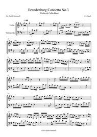 Brandenburg Concerto No. 3: Violin and Cello Duet