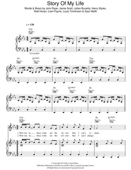 One Direction sheet music to download and print - World center of ...