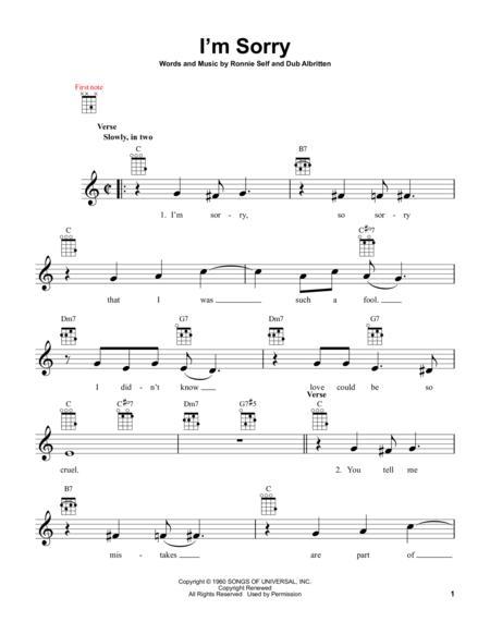 Brenda Lee I\'m Sorry Chords. Rockin\' Around The Christmas Tree ...