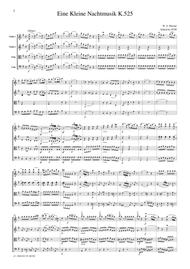 Mozart Eine Kleine Nachtmusik K.525, all mvts., for string quartet, CM018
