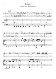 Mozart Romance from Eine Kleine Nachtmusik K.525, for piano trio, PM301