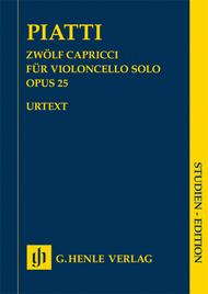 Alfredo Piatti  Sheet Music 12 Capricci Op. 25 for Violoncello Solo Song Lyrics Guitar Tabs Piano Music Notes Songbook
