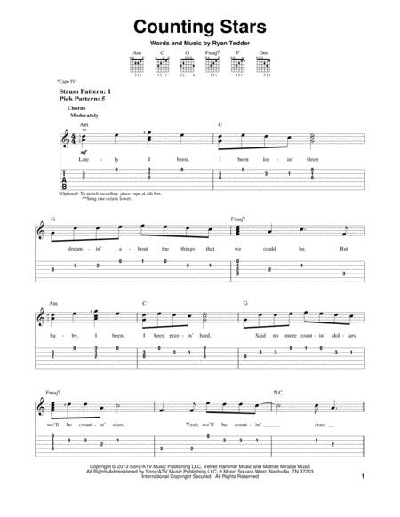Download Digital Sheet Music of OneRepublic for Guitar notes and ...