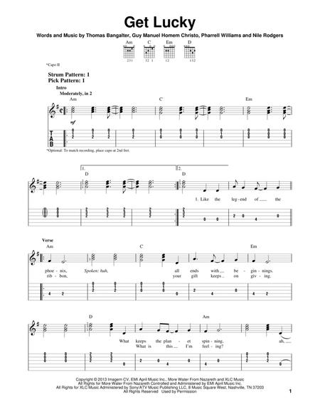 Pharrell Williams and Daft Punk sheet music to download and print ...