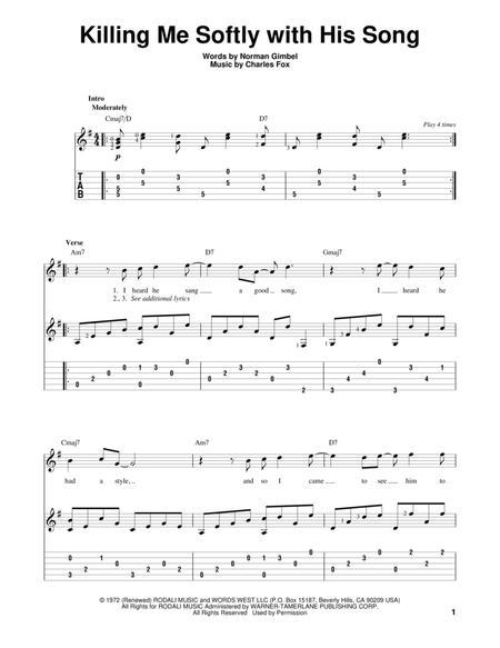 killing me softly lead sheet free pdf