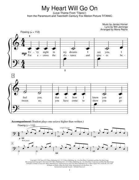 my heart will go on piano sheet music easy - Moren.impulsar.co