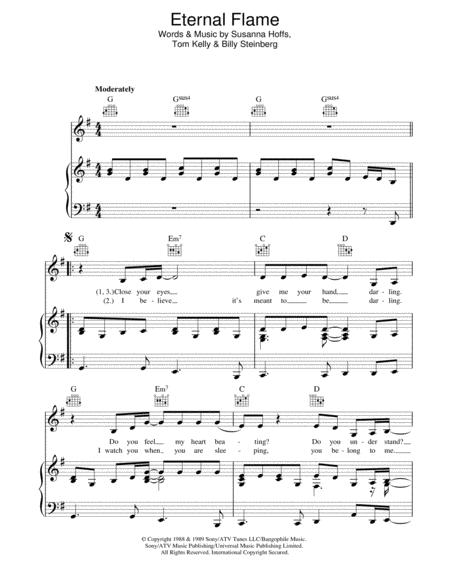 Download Digital Sheet Music of The Bangles for Piano, Vocal and Guitar