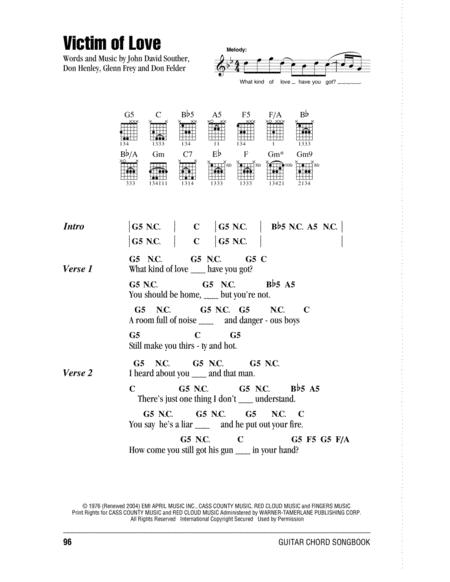 Download Digital Sheet Music Of The Eagles For Lyrics And Chords