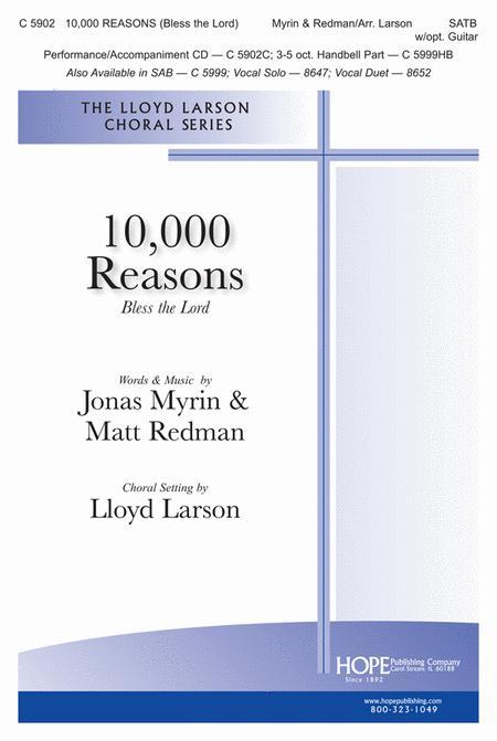 Sheet music: 10,000 Reasons (Bless the Lord) (SATB, Guitar)