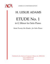 H. Leslie Adams  Sheet Music [Adams] Etude in G Minor (Part I, No. 1) Song Lyrics Guitar Tabs Piano Music Notes Songbook