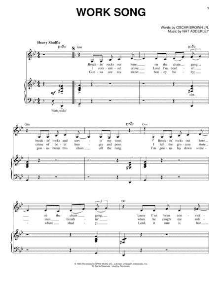 Work Song Lead Sheet Ibovnathandedecker