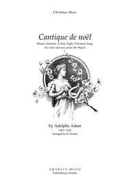 O Holy Night / Cantique de noel for voice and easy piano (Bb Major) sheet music
