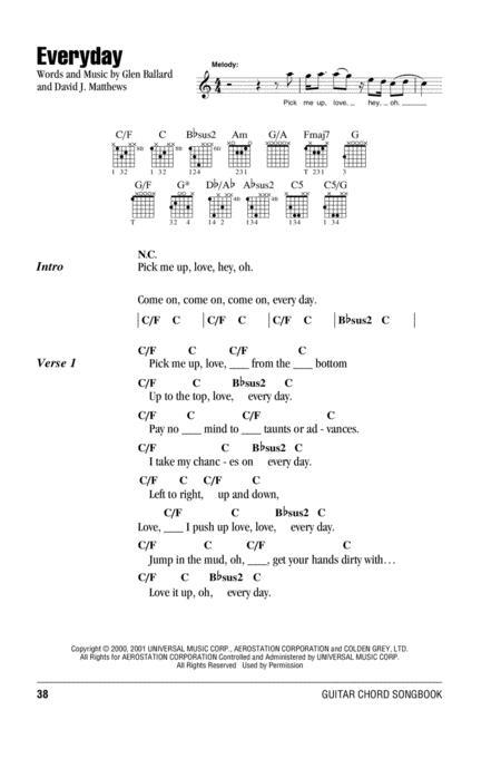 Download Digital Sheet Music of The Dave Matthews Band for Lyrics ...