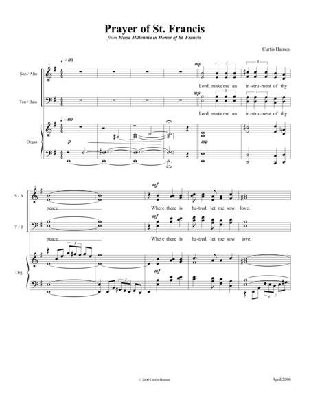 prayer of st francis sheet music to download and print - World