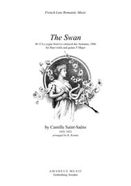 The Swan (F Major) for flute and easy guitar