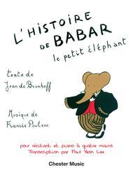 L'Histoire de Babar, le petit elephant sheet music