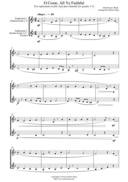 o come all ye faithful piano sheet music pdf free