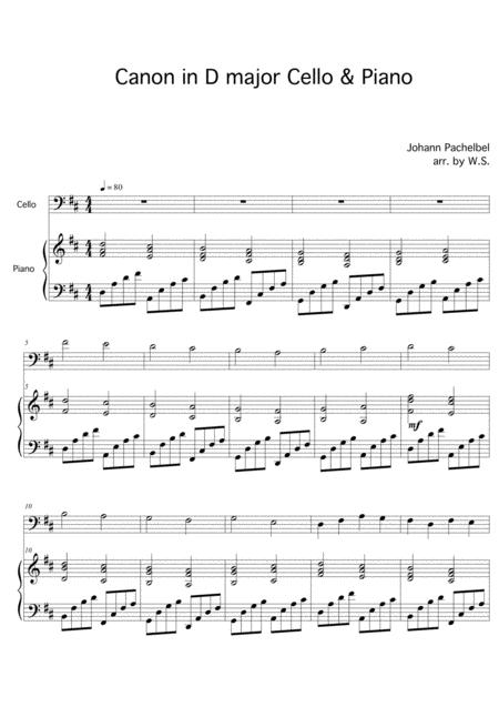 Download Digital Sheet Music for Cello, Piano