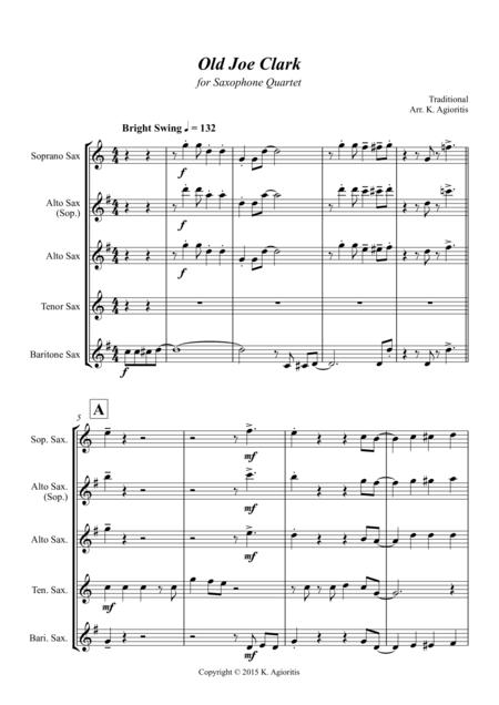 old joe clark sheet music to download and print - World center of ...