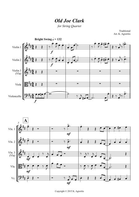 Old Joe Clark Sheet Music To Download And Print World Center Of