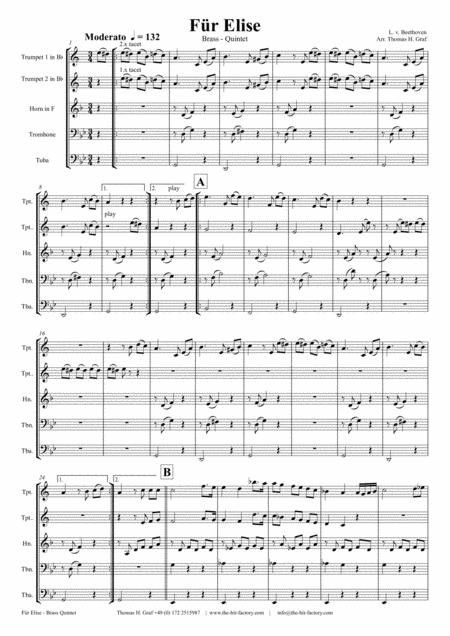 too Elise sheet music to download and print - World center