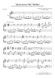 """""""Jesus Loves Me"""" Medley for piano solo sheet music"""