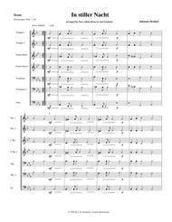 """In stiller Nacht"" for brass quintet, score and parts sheet music"