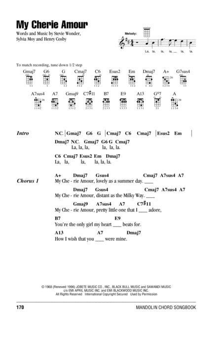 Download Digital Sheet Music Of Stevie Wonder For Mandolin