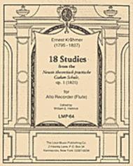 Ernest Krahmer  Sheet Music 18 Studies from the Neuste theoretisch practische Csakan-Schule, Op. 1 (1821) Song Lyrics Guitar Tabs Piano Music Notes Songbook