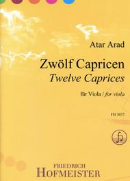 Atar Arad  Sheet Music 12 Capricen Song Lyrics Guitar Tabs Piano Music Notes Songbook