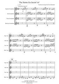 The Saints Go Jazzin' In for Saxophone Quartet sheet music