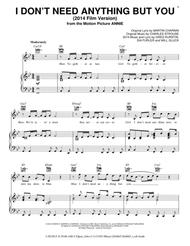 I Don't Need Anything But You (2014 Film Version) sheet music