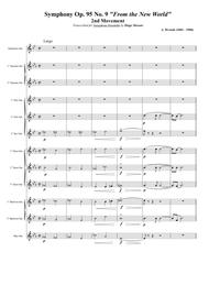 """Antonin Dvorak  Sheet Music """"Largo"""" from Symphony No. 9 """"From the New World"""" for Saxophone Choir Song Lyrics Guitar Tabs Piano Music Notes Songbook"""