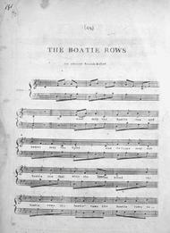 B. C.  Sheet Music (1) The Boatie Rows. An Ancient Scotch Ballad. (2) The Boatie, with an Obligato Accompanyment Song Lyrics Guitar Tabs Piano Music Notes Songbook