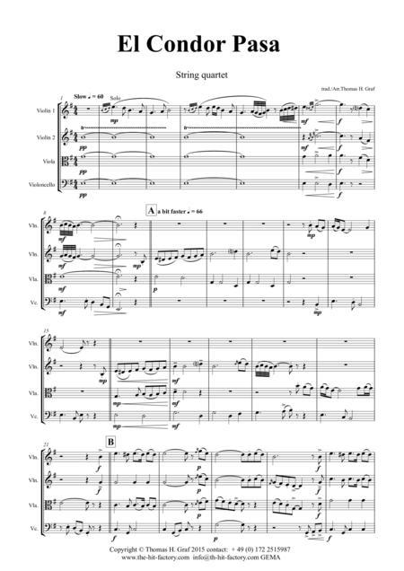 El Condor Pasa Sheet Music To Download And Print World Center Of