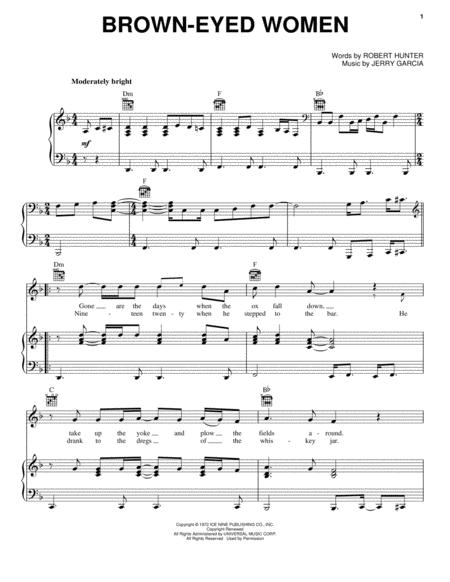 Grateful Dead Sheet Music To Download And Print World Center Of