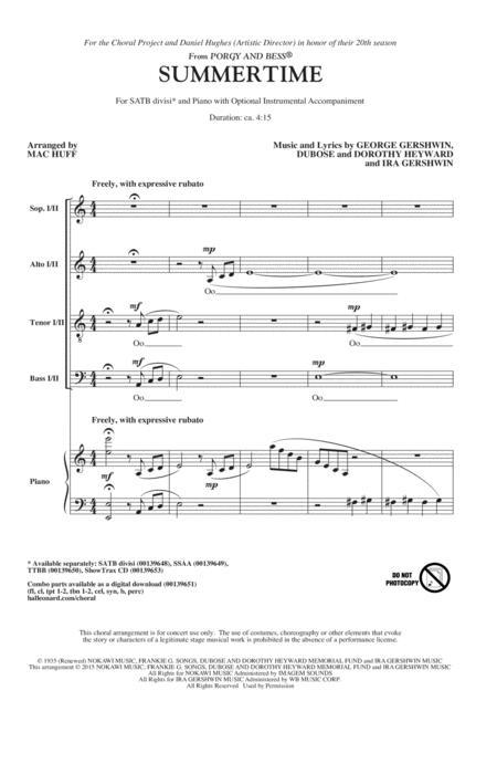 George Gershwin - Choral SATB - sheet music books scores