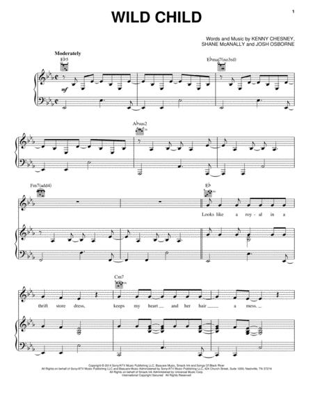 Kenny Chesney sheet music to download and print - World center of ...