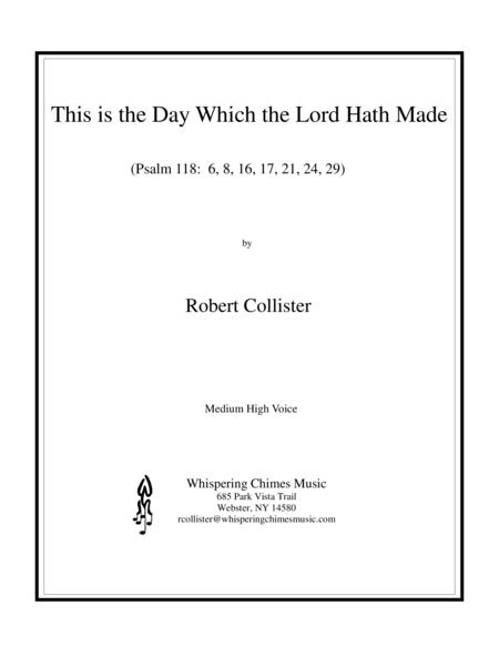 Download Digital Sheet Music Of This Is The Day For Piano Vocal And