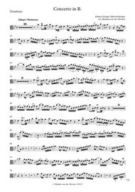 Johann Georg Albrechtsberger  Sheet Music (Alto) Trombone Concerto in B? - solo part only Song Lyrics Guitar Tabs Piano Music Notes Songbook