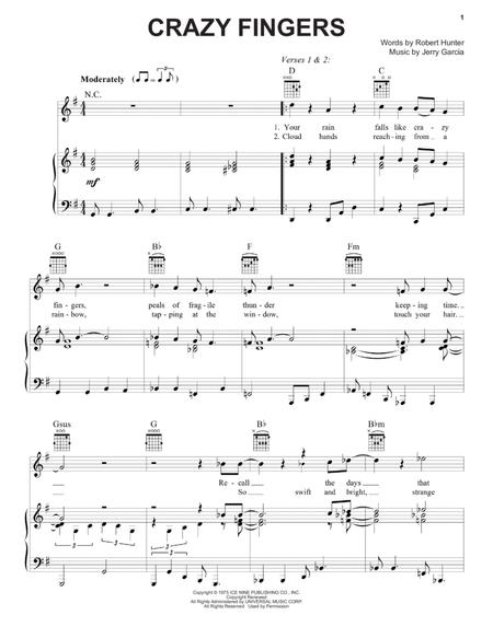 Download Digital Sheet Music Of Fingering For Piano Vocal And Guitar