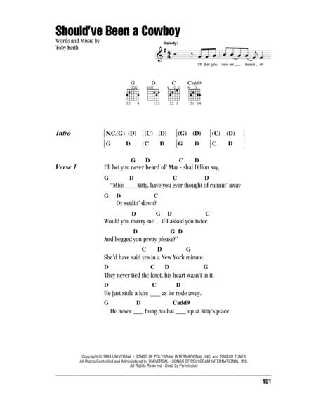 Download Digital Sheet Music Of Toby Keith For Lyrics And Chords